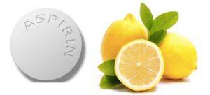 Домашняя маска для лица с аспирином и лимоном