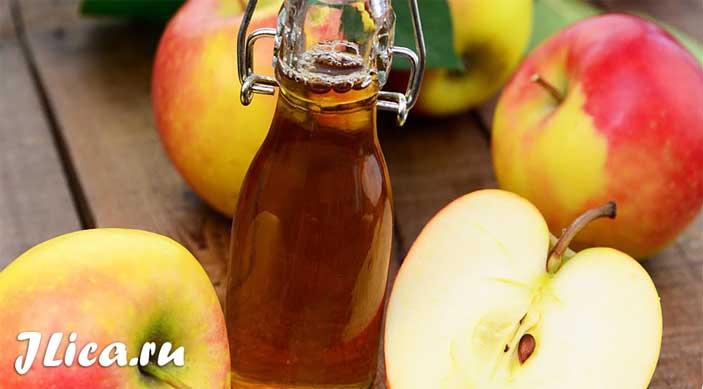 Применение яблочного уксуса для лица рецепты