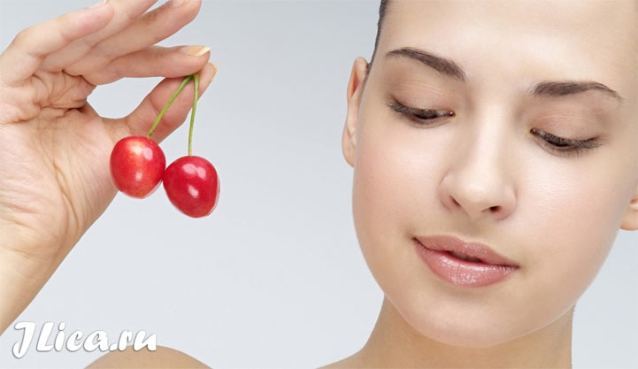 Маска из вишни для кожи лица от морщин прыщей