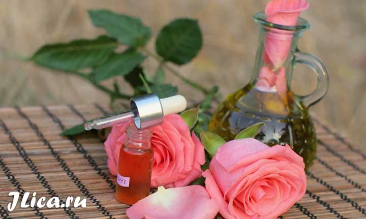Розовое масло для лица польза маски для кожи отзывы