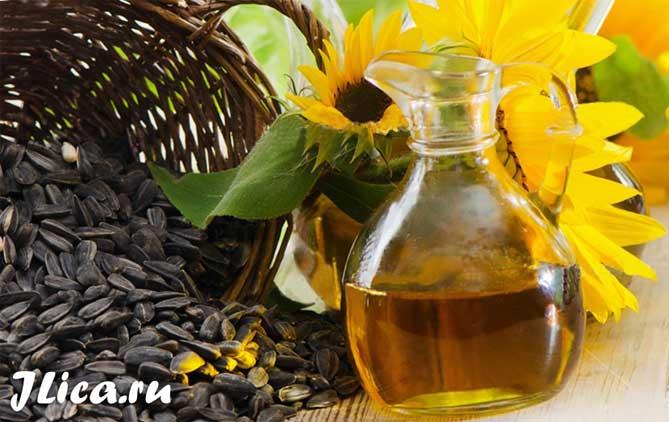 Подсолнечное масло для кожи лица свойства применение