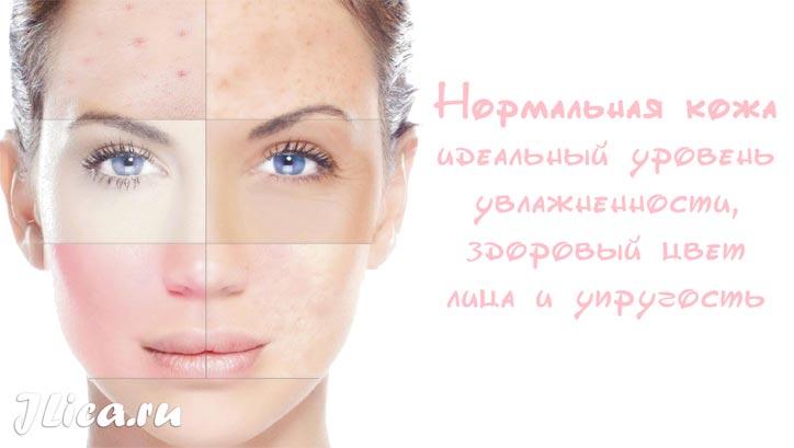Признаки нормальной кожи достоинства