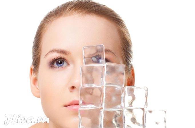 рецепты масок от отеков под глазами лед для кожи