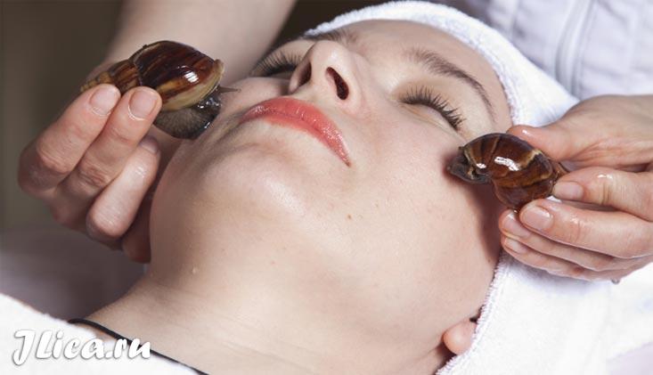 массаж лица улитками ахатинами омоложение кожи