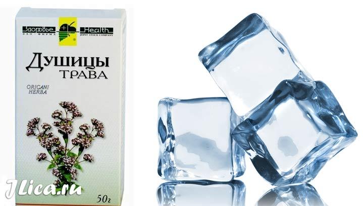 Кубики льда из душицы рецепт из отвара