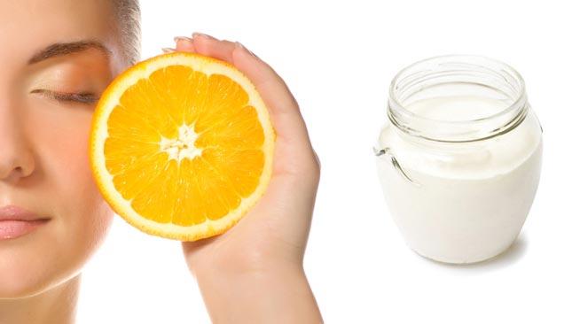 Маска для лица с апельсином и простоквашей от морщин