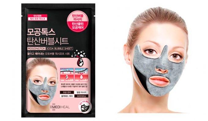 Mediheal произведённая в Корее с эффектом bubble oxygen маска