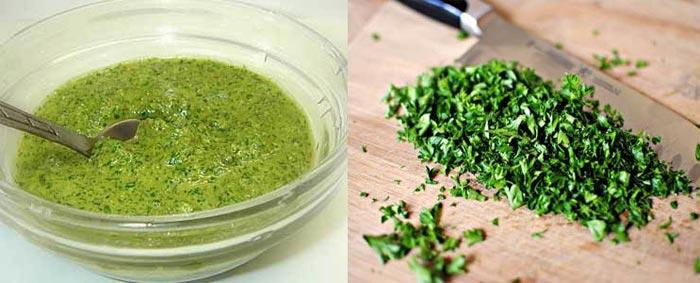 Маска из зелени