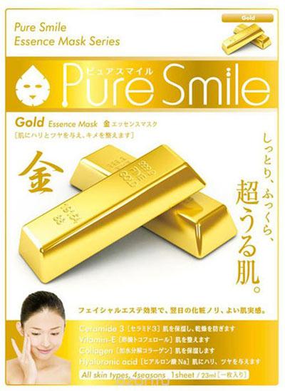 Тканевая маска с золотом Pure Smile