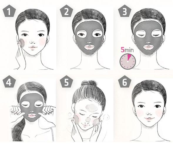 как применять маску