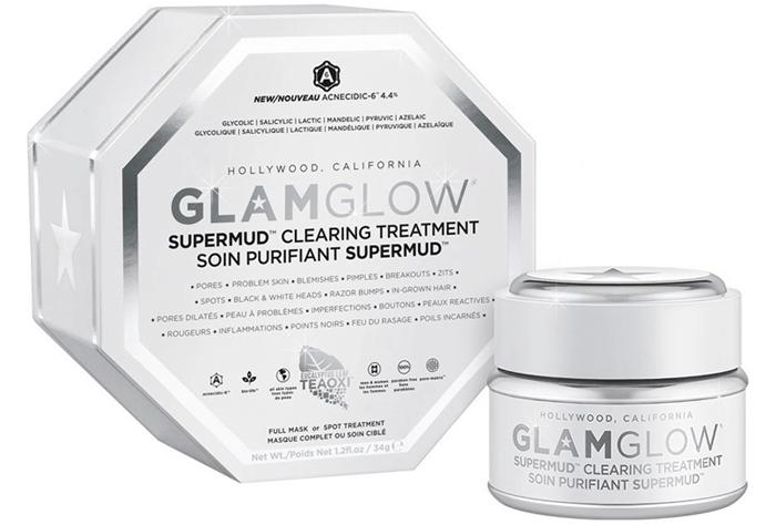 Белая маска glamglow supermud