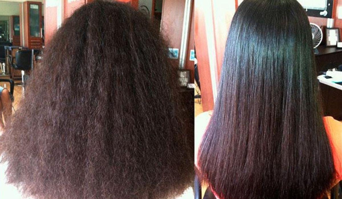 ламинирование волос до и после фото