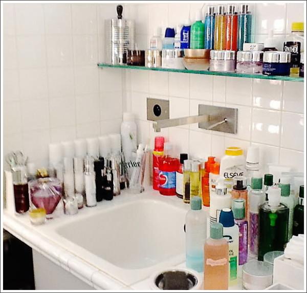 косметика в ванной
